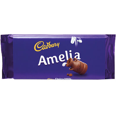 Cadbury Dairy Milk Chocolate Bar 110g - Amelia image number 1