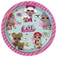 LOL Surprise Paper Dinner Plates: Pack of 8