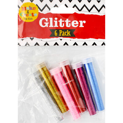 6 Glitter Tubes image number 1