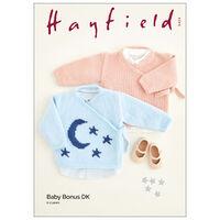Hayfield Baby Bonus DK: Moon & Star Wrap Top Knitting Pattern 5424