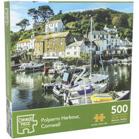 Polperro Harbour Cornwall 500 Piece Jigsaw Puzzle