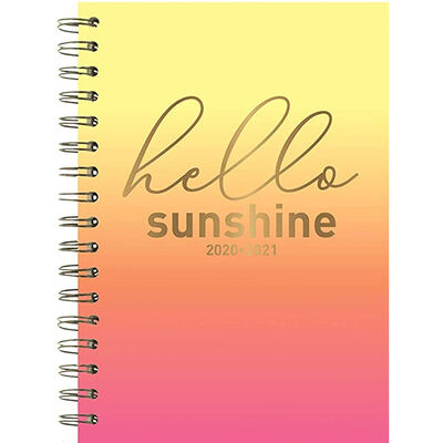 A5 Hello Sunshine Week to View 2020-21 Academic Diary image number 1