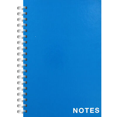A5 Wiro Plain Blue Lined Notebook image number 1