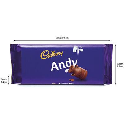 Cadbury Dairy Milk Chocolate Bar 110g - Andy image number 3