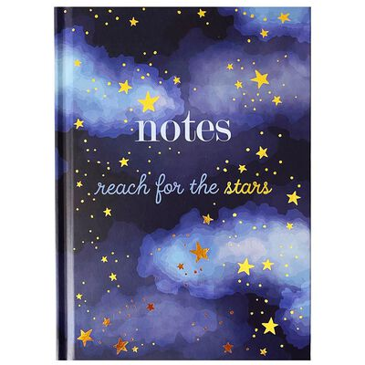 A5 Casebound Reach For The Stars Notebook image number 1
