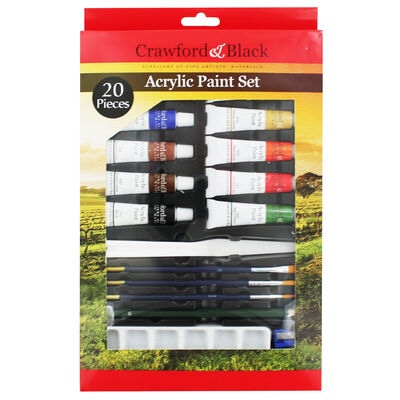 Crawford And Black Acrylic Paint Set - 20 Pieces image number 1