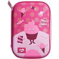 Tinc Pink Cupcake Hard Top Pencil Case