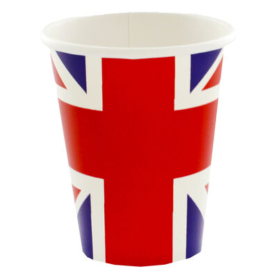 Union Jack Paper Cups - Pack of 8 image number 1