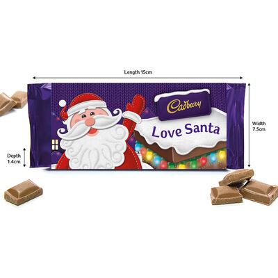 Cadbury Dairy Milk Chocolate Bar 110g - Love Santa image number 2