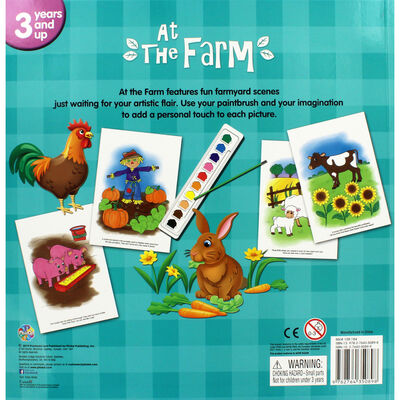 At the Farm Poster Paint Book image number 3