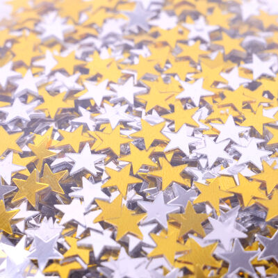 Gold and Silver Star Sequins image number 2