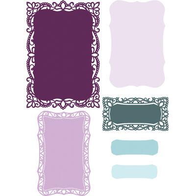 CC Vintage Lace Metal Die - Rococo Frames image number 2