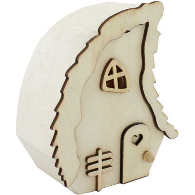 Mini Wooden Fairy House image number 1