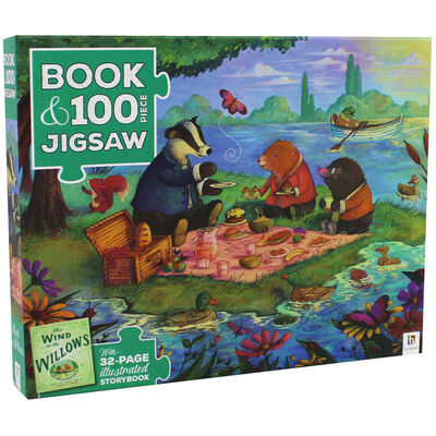 The Wind in the Willows 100 Piece Jigsaw Puzzle and Book Set image number 1