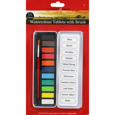 11 Watercolour Tablets with Brush image number 1