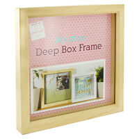 Natural Deep Box Frame - 20cm x 20cm