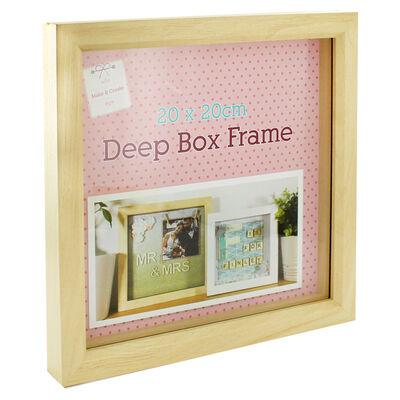 Natural Deep Box Frame - 20cm x 20cm image number 1