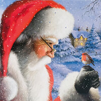Santa Christmas Cards: Pack Of 10