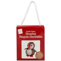 Make Your Own Hanging Penguin Decoration: Needle Felting Kit