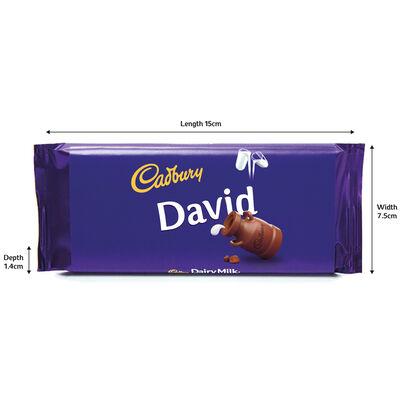 Cadbury Dairy Milk Chocolate Bar 110g - David image number 3
