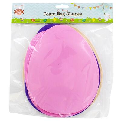 Foam Egg Shapes - 12 Pack image number 2