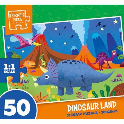 Dinosaur Land 50 Piece Jigsaw Puzzle image number 1