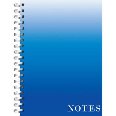 A5 Wiro Ombre Blue Lined Notebook image number 1