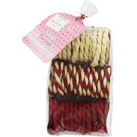 Red and Natural Twine - Pack Of 3