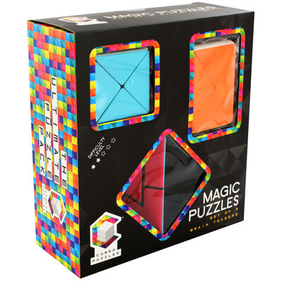 Magic Cubed Puzzles - 3 Brain Teasers image number 1