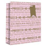 Medium Pink Prosecco Ho Ho Gift Bag