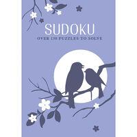 Blue Bird Faux Leather Sudoku Book