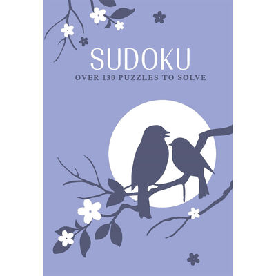 Blue Bird Faux Leather Sudoku Book image number 1
