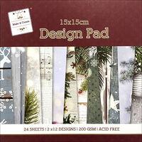 Winter Christmas Paper Pad - 15 x 15 cm