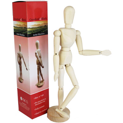 Wooden Artist Manikin - 12 Inches image number 2
