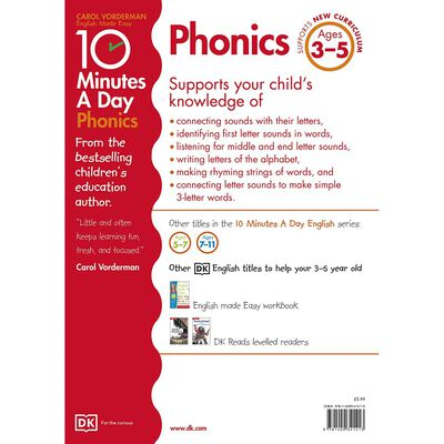 10 Minutes A Day Phonics: Ages 3-5 image number 3