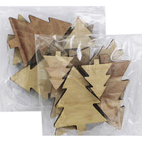 Wooden Christmas Tree Shapes - 16 Pack