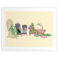 Roald Dahl James and the Giant Peach Chairs Print