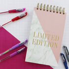 Limited Edition Pink Marble Foil Wiro Notepad image number 4