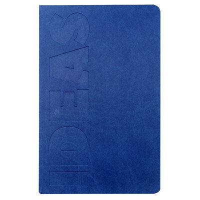 A5 Blue Ideas Lined Notebook image number 1