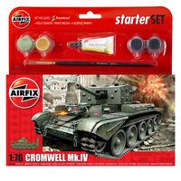 Airfix 1:76 Cromwell Cruiser Mk IV Small Starter Set