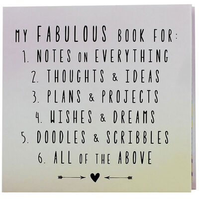 My Fabulous Book Of Things To Do Pad image number 1