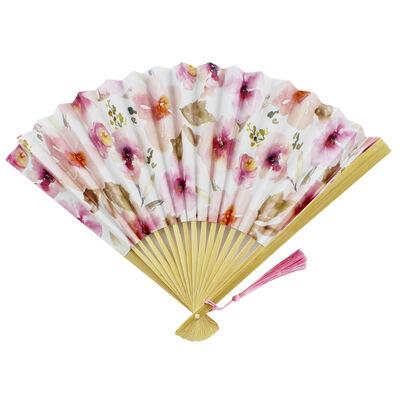 Pastel Floral Paper Fan image number 1