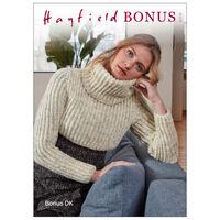 Hayfield Bonus DK: Crop Sweater Knitting Pattern 8209