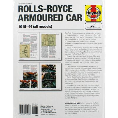 Haynes Rolls Royce Armoured Car Manual image number 3