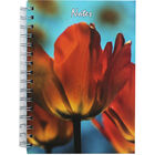 A5 Wiro Orange Flowers Lined Notebook image number 1