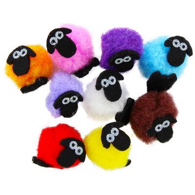Mini Pom Pom Sheep - 10 Pack image number 2