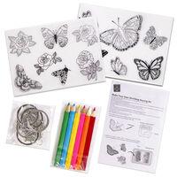 Make Your Own Shrinking Keyring Kit: Butterfly