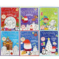 Christmas Colouring Fun: 6 Activity Book Bundle