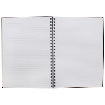 A4 Wiro Plain Black Lined Notebook image number 2