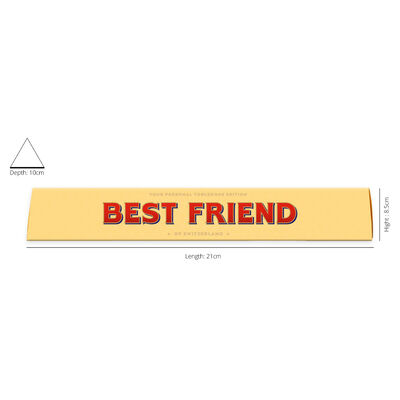 Toblerone Milk Chocolate 100g – Best Friend image number 2